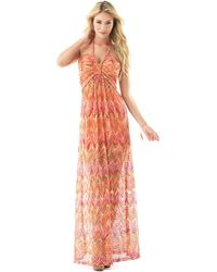 Sky Clothing Collection Sky Shifra Zig Zag Maxi Dress - Lyst