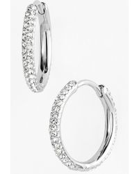 Nadri Small Pave Hoop Earrings - Lyst