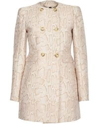 Stella McCartney Cappotto in Jacquard Pitonato - Lyst