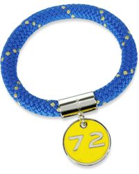 Marc By Marc Jacobs - Blue Nylon And Silvertone Brass 72 Location Bangle - Lyst
