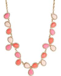 Kate Spade Pave Cluster Necklace - Lyst