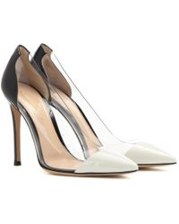 Gianvito Rossi Patent Leather And Transparent Pumps - Lyst