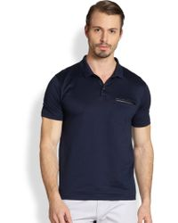 Hugo Leather Pocket Polo Shirt - Lyst