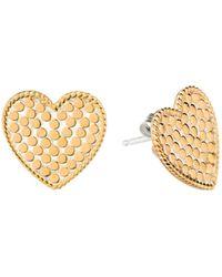 Anna Beck - Heart Stud Earrings - Lyst