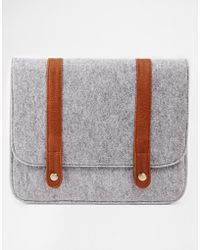 Asos Ipad Case in Wool Fabric with Straps - Lyst