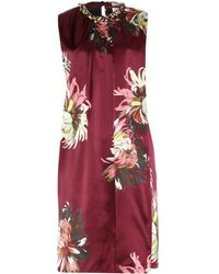 Erdem Enid Silk Dress with Embellished Collar - Lyst