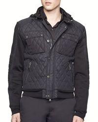 Ralph Lauren Black Label Quilted Moto Hybrid Jacket  Slim Fit - Lyst