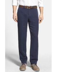 Tommy Bahama 'La Jolla' Flat Front Pants blue - Lyst