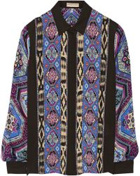 Emilio Pucci Printed Silkcharmeuse Blouse - Lyst