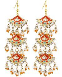 Chamak By Priya Kakkar Fan-Style Tiered Drop Earrings - Lyst