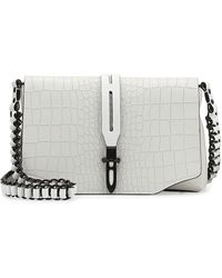 Rag & Bone Enfield Mini Crocembossed Crossbody Bag White - Lyst
