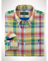 Polo Ralph Lauren Plaid Double-Faced Shirt - Lyst