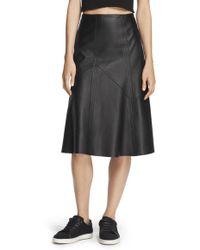 Rag & Bone | Leather Kelly Skirt | Lyst