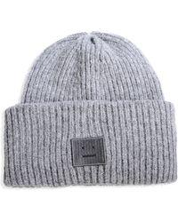 Acne Studios Hat gray - Lyst