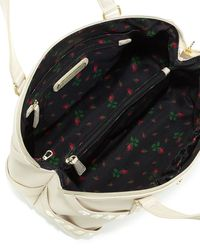 Betsey Johnson Iridescent Studded Dome Satchel Bag - Lyst