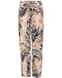 Rag & Bone Victoria Printed Silk Trousers - Lyst