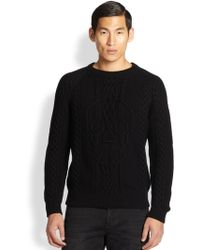 Alexander McQueen Skull Cable Knit Sweater - Lyst