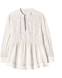 Rebecca Taylor | Longsleeve Embroidered Top | Lyst