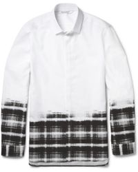 Neil Barrett Checked Cottonpoplin Shirt - Lyst