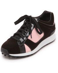 3.1 Phillip Lim - Trance Low Top Sneakers - Espresso/Bubble Gum/Black - Lyst