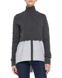 Elie Tahari Raleigh Cashmere Cropped Sweater - Lyst