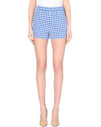 Diane von Furstenberg Fausta Gingham Shorts - For Women - Lyst