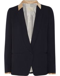 Band Of Outsiders Satintrimmed Crepe Blazer - Lyst