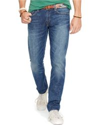Polo Ralph Lauren Varick Slim-Straight Lightweight Elmwood-Wash Jeans - Lyst