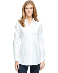 Brooks Brothers Non-iron Supima Cotton Tunic - Lyst