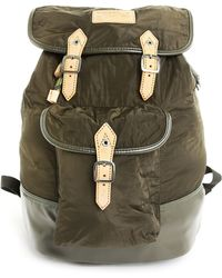Diesel Khaki C-Backpack With Natural Leather Detail khaki - Lyst