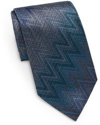 Missoni Chevron Silk Tie - Lyst