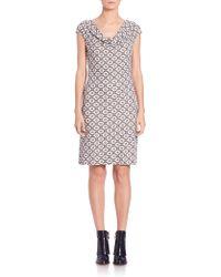 Tory Burch | Matte Jersey Print Dress | Lyst