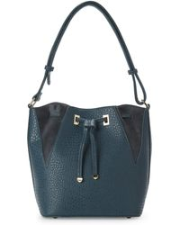 Nila Anthony - Teal Bucket Bag - Lyst