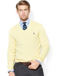 Polo Ralph Lauren Pima Cotton Vneck Sweater - Lyst