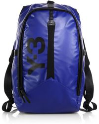 Y-3 Day Backpack blue - Lyst