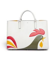 Anya Hindmarch Ebury Maxi Featherweight Cornflakes Leather Tote - Lyst