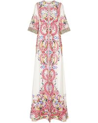 Naeem Khan - Embroidered Organza Evening Coat - Lyst
