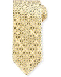 Ermenegildo Zegna Dotted Lattice Silk Tie - Lyst
