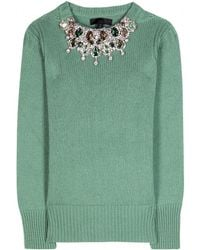 Burberry Prorsum Embellished Cashmere Sweater - Lyst