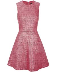 Markus Lupfer Iridescent Tweed Charlotte Dress - Lyst