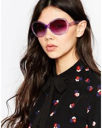 M:uk - Clear Oversized Sunglasses - Lyst