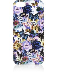 Topshop Opulent Floral Iphone 5 Case  Purple - Lyst