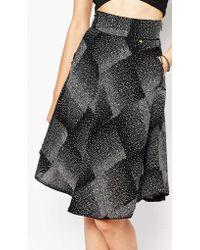 Harlyn - Speckled Print Midi Skirt - Lyst