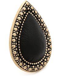 Samantha Wills - Bohemian Bardot Ring - Antique Gold/black - Lyst