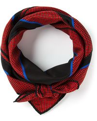Givenchy Vintage Printed Scarf red - Lyst