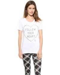 Zoe Karssen Follow Your Heart Tee - White - Lyst