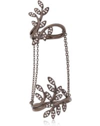 Joelle Jewellery - Leaf Ring With Chains - Lyst