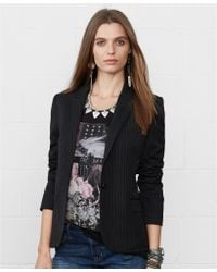 Denim & Supply Ralph Lauren Singlebutton Pinstripe Blazer - Lyst