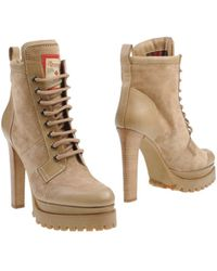 DSquared2 Beige Ankle Boots - Lyst