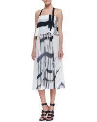 Elle Sasson Luana Checkprint Haltertop Dress Check Print 38 Us 4 - Lyst